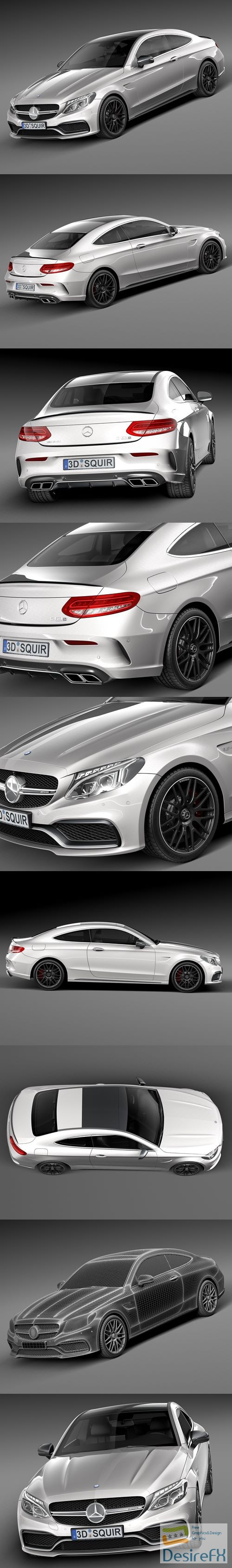 Mercedes-Benz C63 AMG Coupe 2017 3D Model