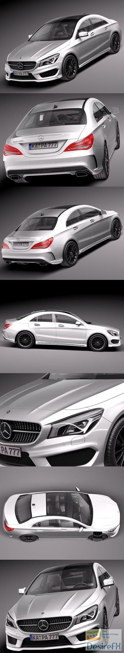 3d-models - Mercedes-Benz CLA-class AMG 2014 3D Model