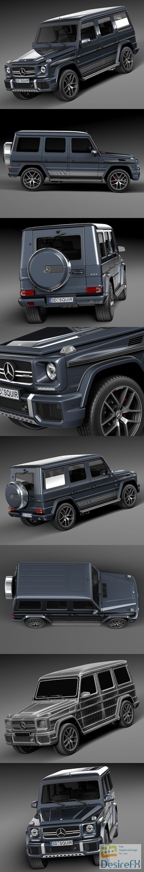 Mercedes-Benz G63 AMG 2016 3D Model