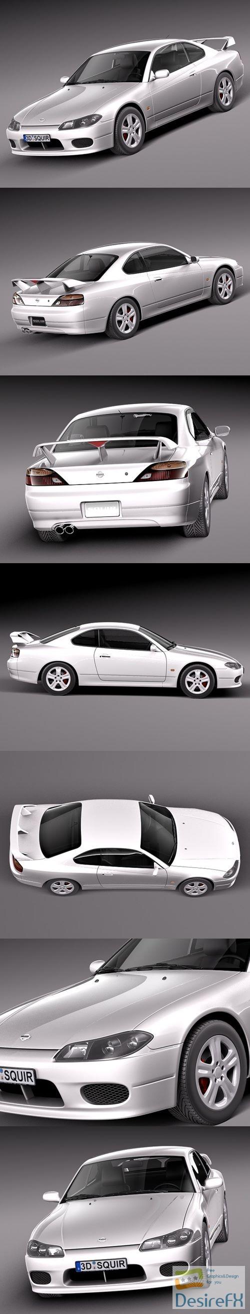 Nissan 240 sx Silvia S15 1999-2002 3D Model