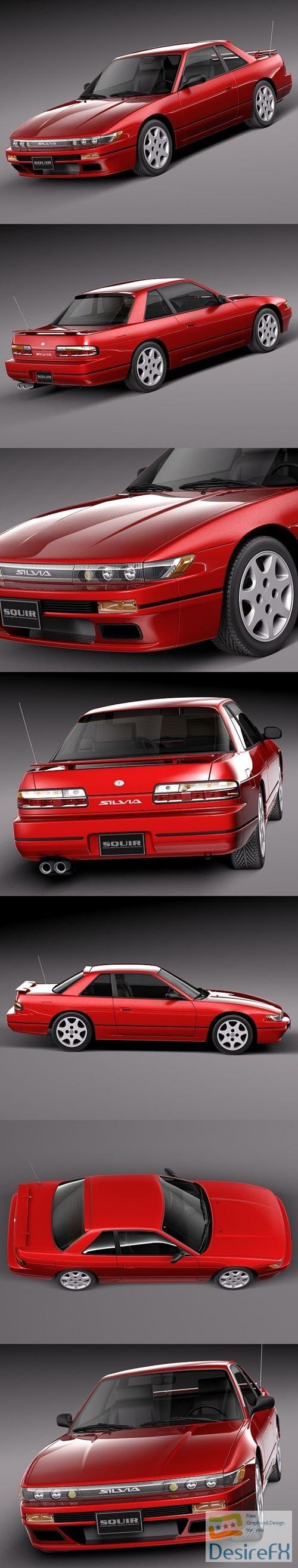 Nissan Silvia K S13 1989-1994 3D Model