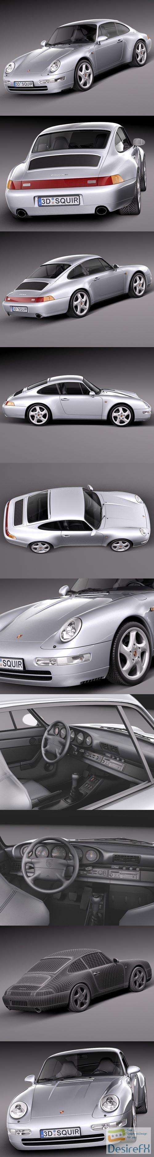 Porsche 911 993 Carrera 1994-1997 3D Model