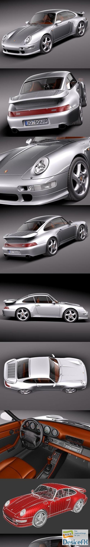 3d-models - Porsche 911 993 Turbo 3D Model