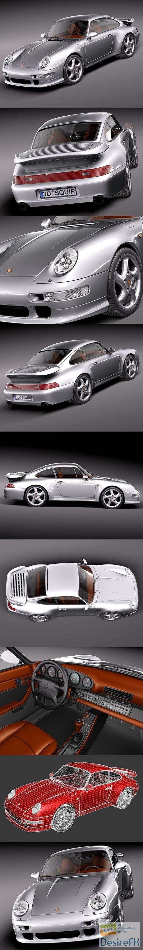 Porsche 911 993 Turbo 3D Model