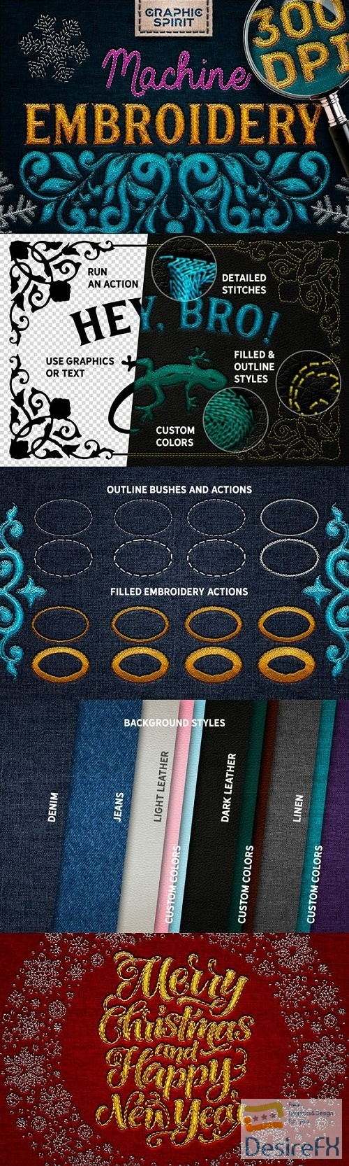 photoshop - Machine Embroidery Actions For Adobe Photoshop - 23583687
