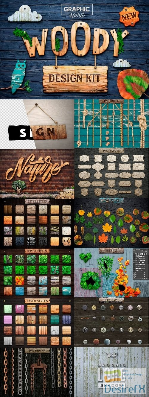 photoshop - WOODY Texture Photoshop Styles KIT FULL 23551039