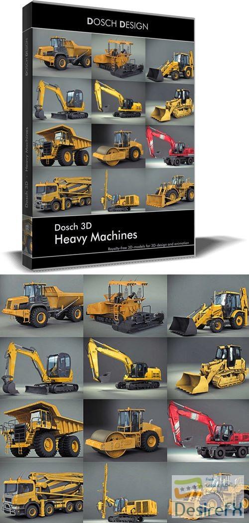 3d-models - Dosch 3D - Heavy Machines 3D Models