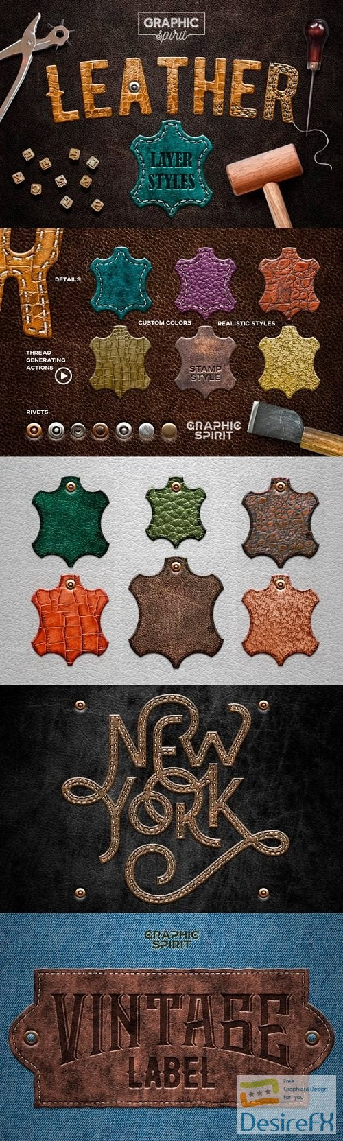 photoshop - Leather Layer Styles For Adobe Photoshop  - 23631291
