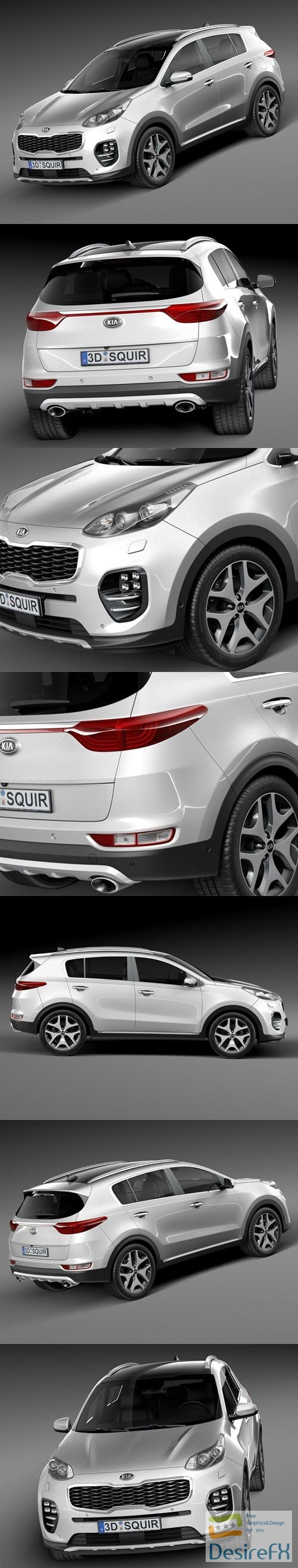 3d-models - Kia Sportage 2016 3D Model