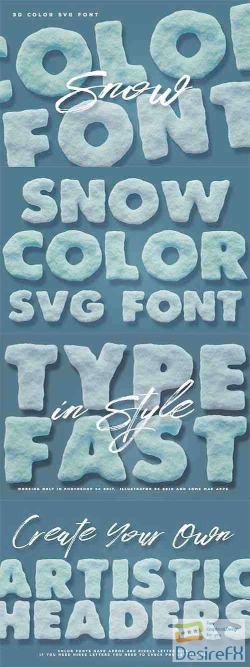 fonts - Snow Color Font