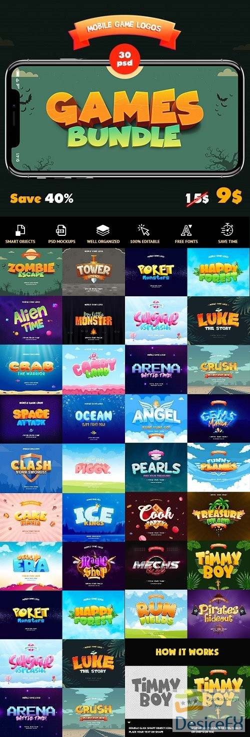 styles-asl - Game Titles Bundle - 30 Text Effects - 23838928