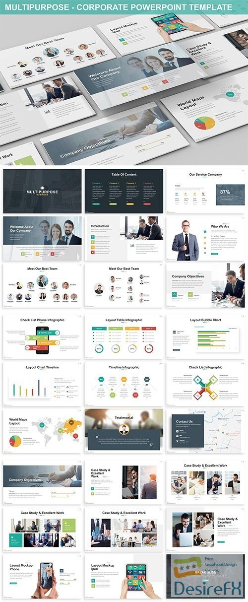 powerpoint - Multipurpose - Corporate Powerpoint Template