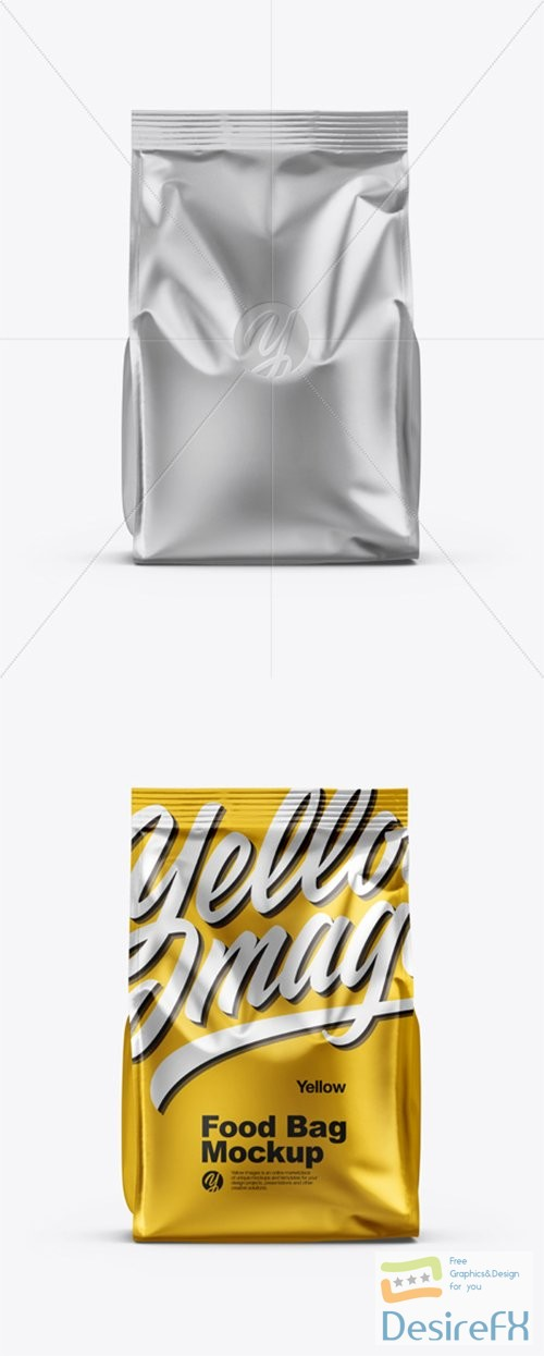 mock-up - Matte Metallic Food Bag Mockup 35331 TIF
