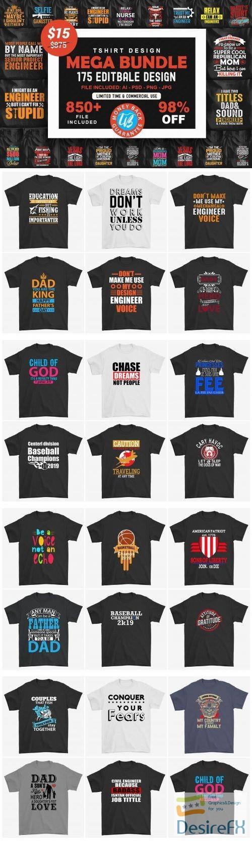 t-shirts-prints - 175 Editable T-shirt Designs - 3885266