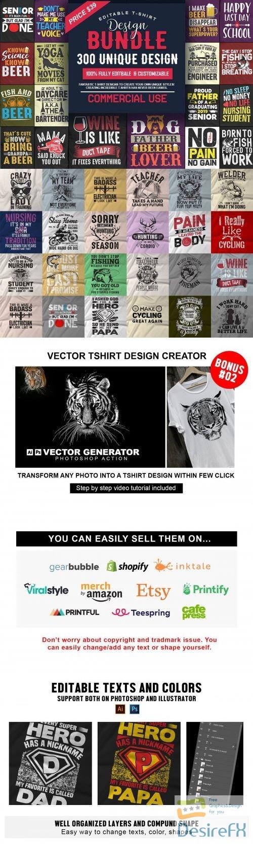 t-shirts-prints - 300 Editable T-shirt Designs - 3891928
