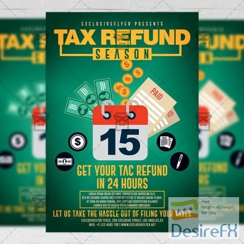 Business A5 Template - Tax Refund Flyer