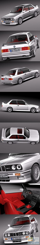3d-models - BMW M3 e30 1985-1991 3D Model