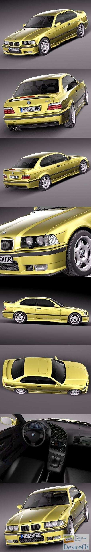 BMW M3 e36 1992-1999 3D Model