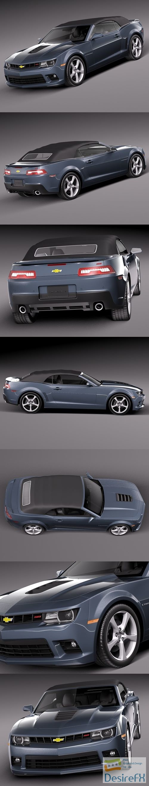 Chevrolet Camaro SS Convertible 2014 3D Model