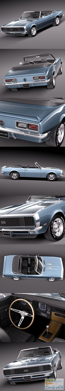 3d-models - Chevrolet Camaro SS RS 1967 convertible 3D Model