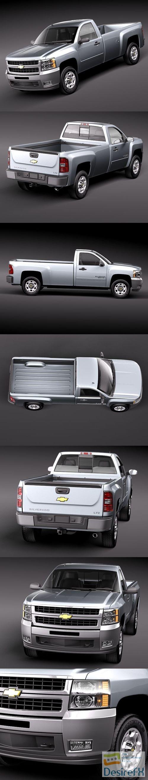 3d-models - Chevrolet Silverado 2500hd regular cab 3D Model