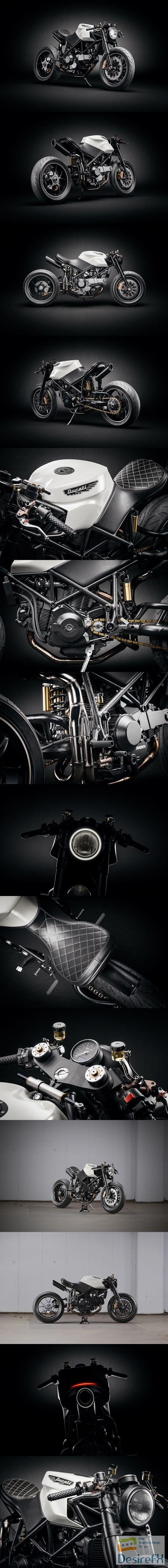 Ducati 916 Custom Cafe Fighter Bike 3D Model