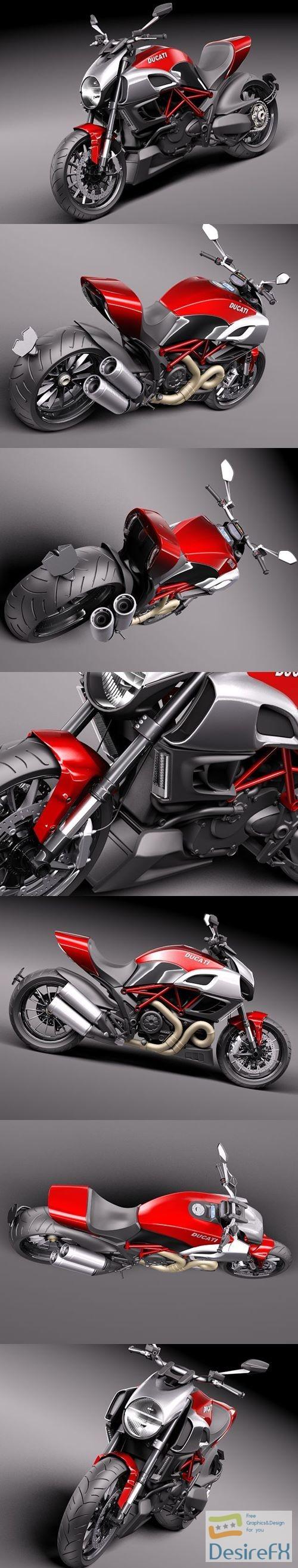 Ducati Diavel 2011 3D Model