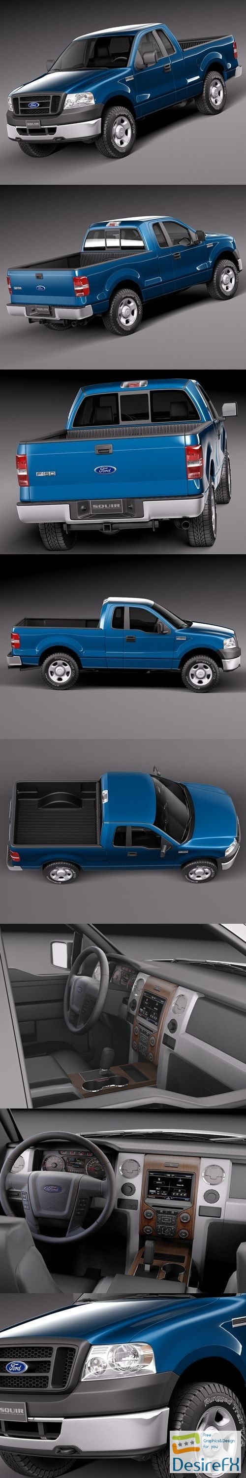 3d-models - Ford F150 Regular Cab 2006 3D Model