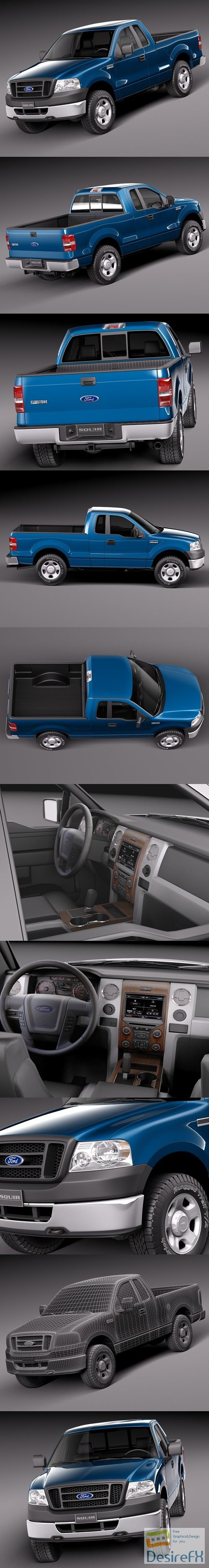 Ford F150 Regular Cab 2006 3D Model