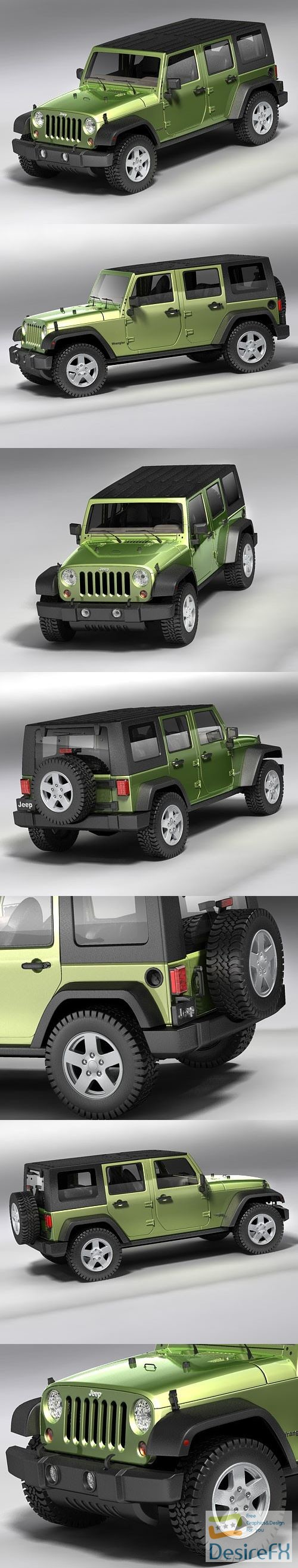 3d-models - Jeep Wrangler Unlimited 2008 3D Model