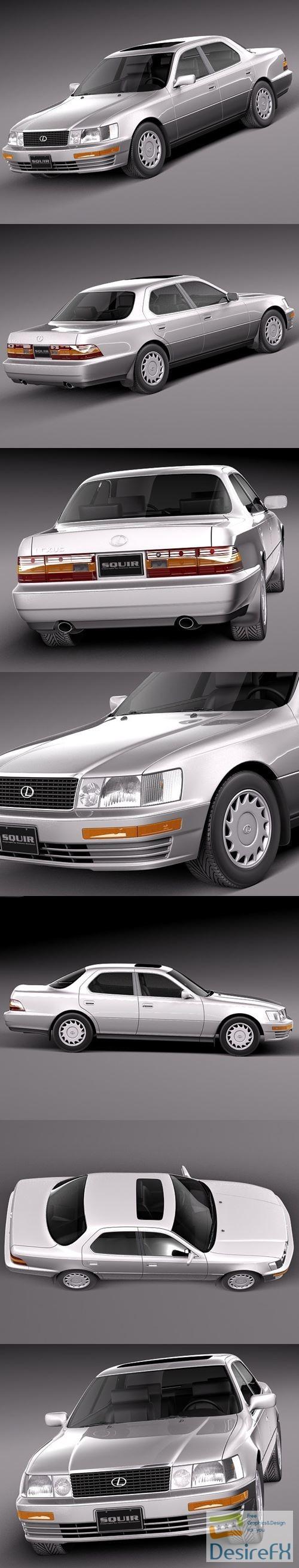 Lexus LS 400 1989-1994 3D Model