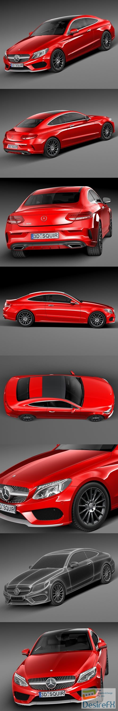 3d-models - Mercedes-Benz C-class Coupe 2017 3D Model
