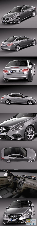 3d-models - Mercedes-Benz E-class Coupe 2014 3D Model