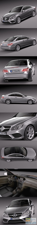 Mercedes-Benz E-class Coupe 2014 3D Model
