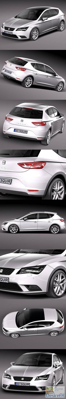 3d-models - Seat Leon 2013 3D Model