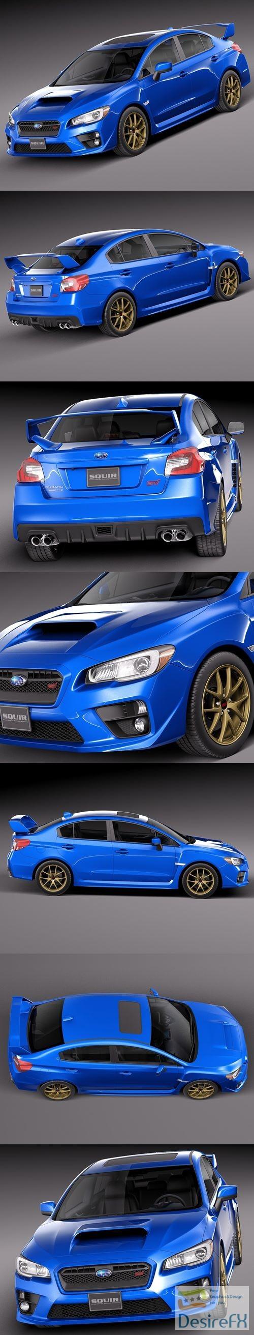 3d-models - Subaru Impreza WRX STI 2015 3D Model