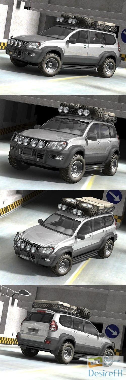 3d-models - Toyota LandCruiser offroad 3D Model