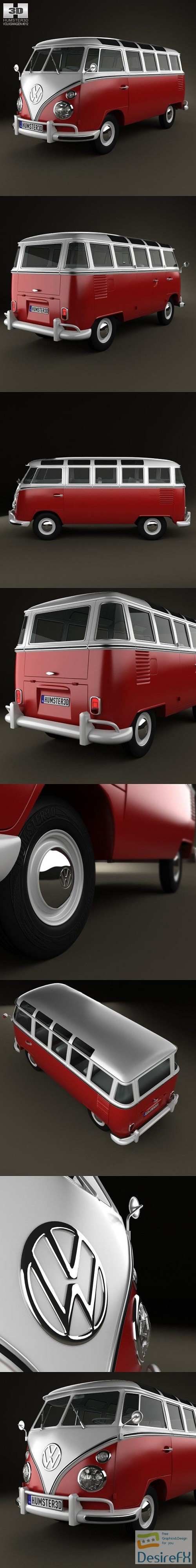 3d-models - Volkswagen Transporter T1 1950 3D Model
