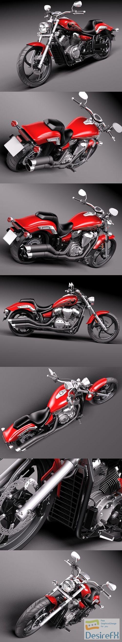 Yamaha Stryker 2012 3D Model