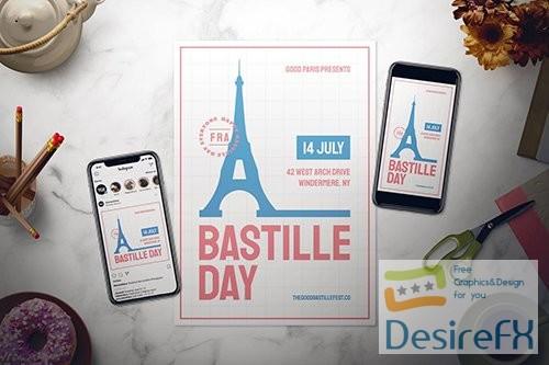 Bastille Day Flyer Set