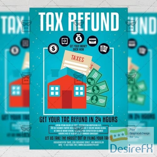 Business A5 Template - Tax Refund Season Flyer