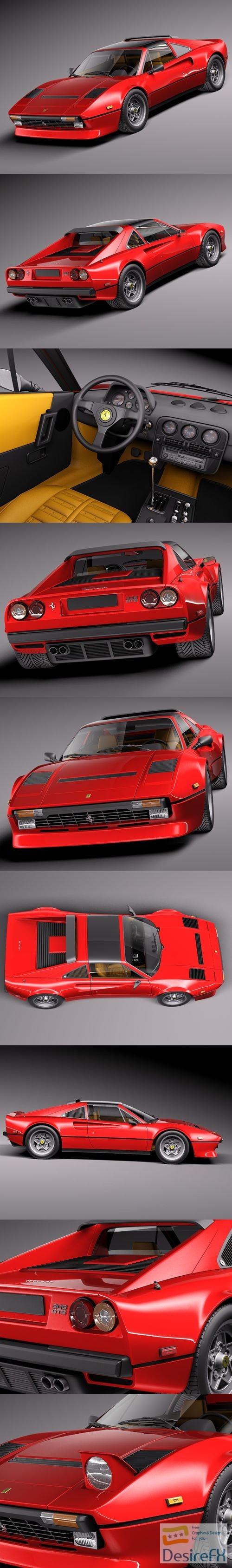 Ferrari 308 GTB GTS 1975-1984 3D Model