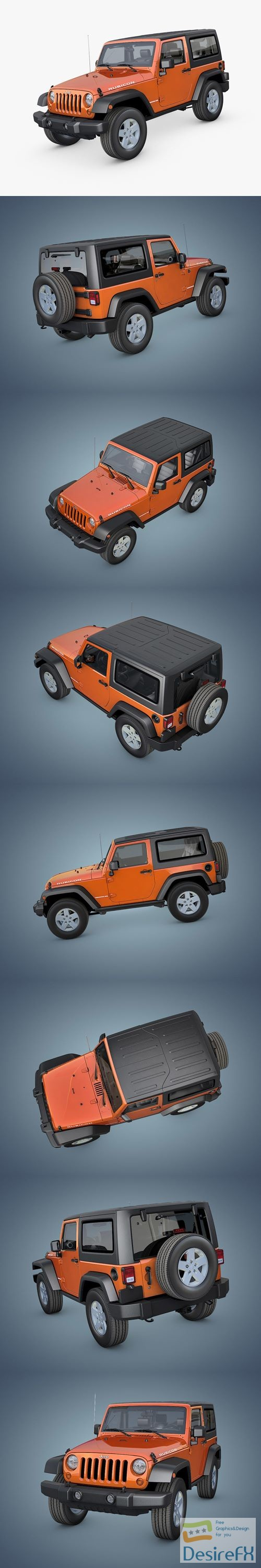 3d-models - Jeep Wrangler Rubicon 2007 3D Model