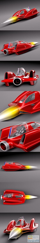 Turbo Sonic Concept Car 3D Model