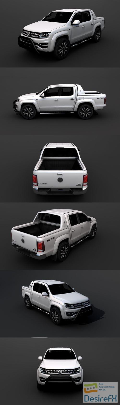 3d-models - Volkswagen Amarok 2017 3D Model