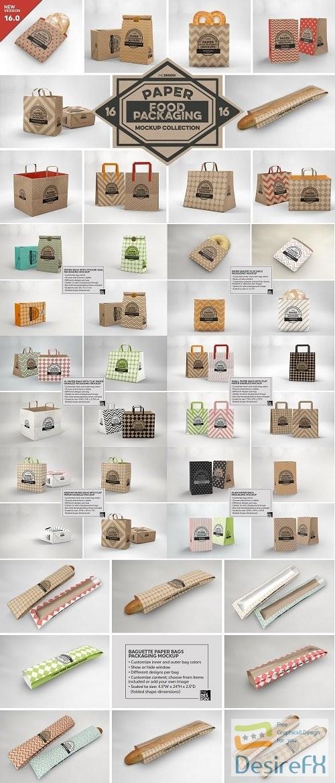 VOL. 16 Food Box Packaging Mockups - 3916852