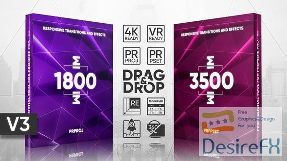 Videohive Transitions Presets Pack V.2 22452399 - Presets & Premiere Pro Templates