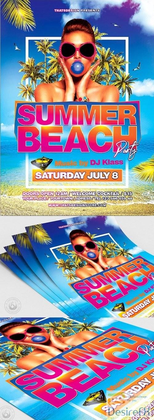 layered-psd - Summer Beach Flyer Template V4 - 3950125