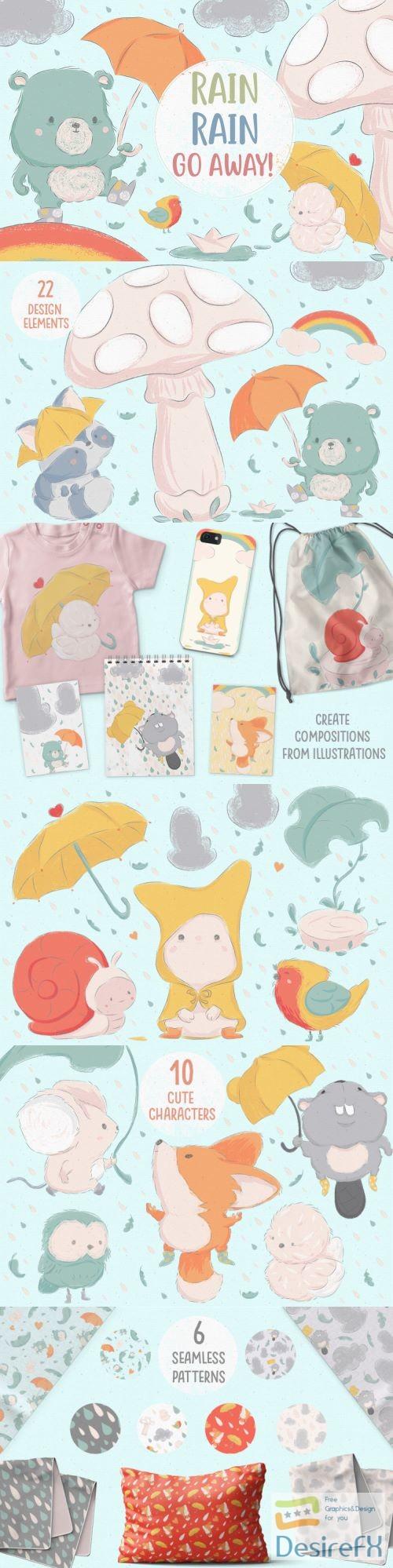 stock-vectors - Rain, Rain, Go Away! - 256256