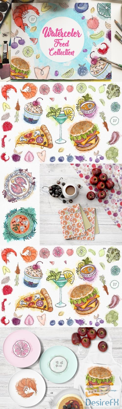 Watercolor Food Collections - 257924